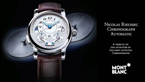 Montblanc and its fine leather goods, a classic by definition.